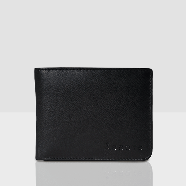 'MASON' Black Nappa Leather Bifold Rfid Wallet
