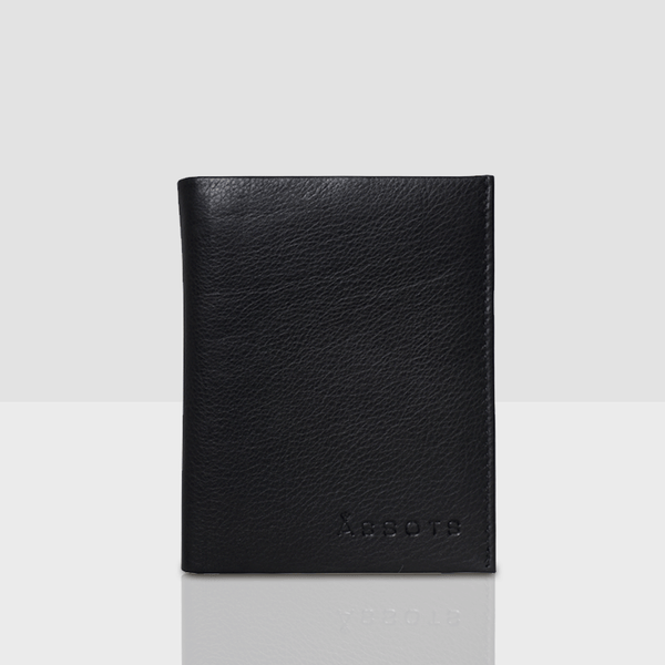 'OLIVER' Black Nappa Leather Bifold Rfid Wallet