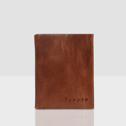 'OLIVER' Tan Leather Bifold Rfid Wallet