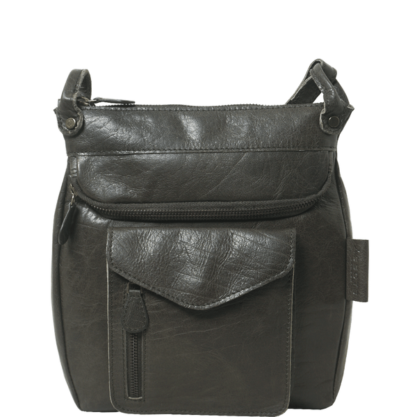 'KEW' Olive Leather Crossbody Bag