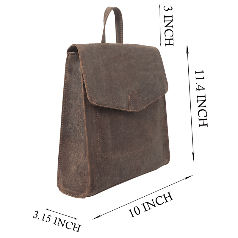 'MARGARET' Vintage Brown Leather Backpack