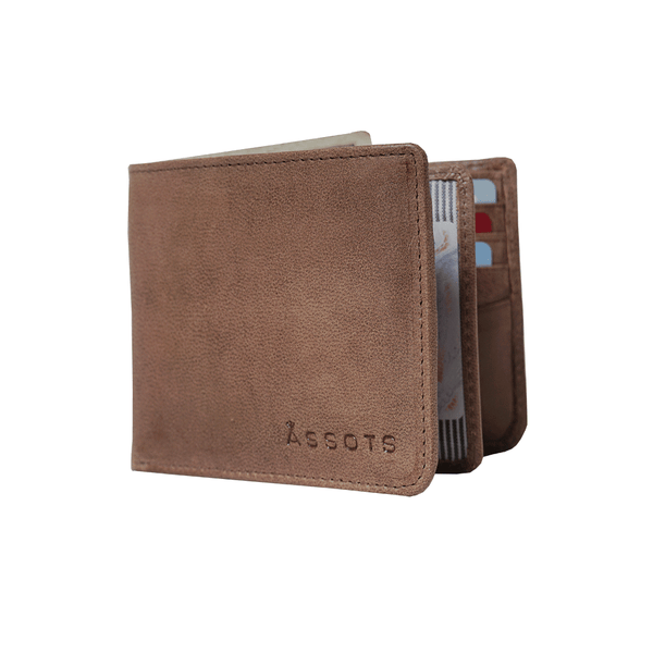 'MASON' Brown Leather Bifold Rfid Wallet