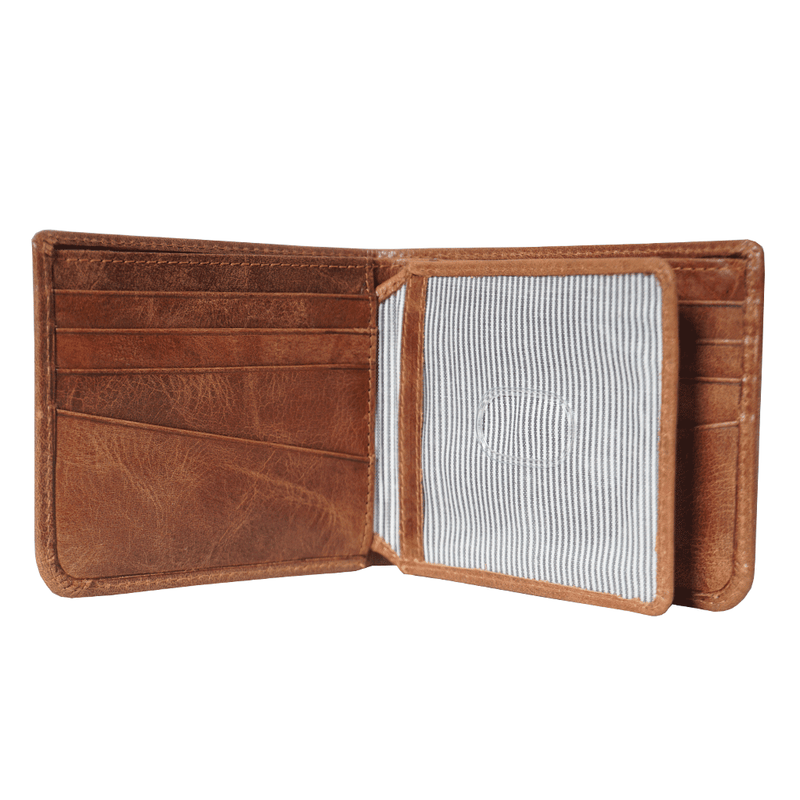 'MASON' Tan Leather Bifold Rfid Wallet