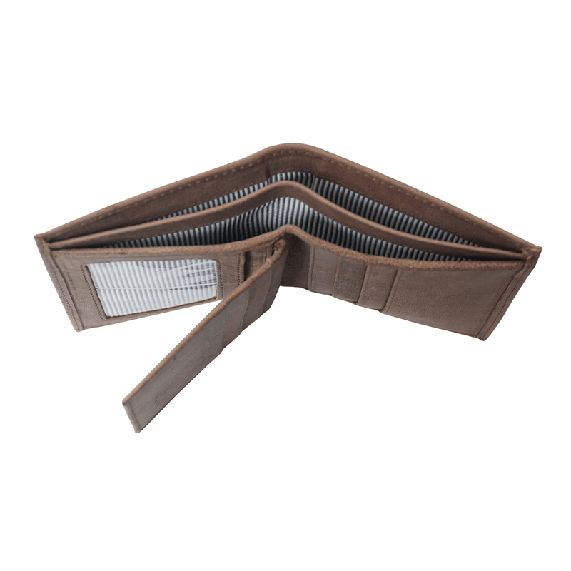 'OLIVER' Brown Leather Bifold Rfid Wallet
