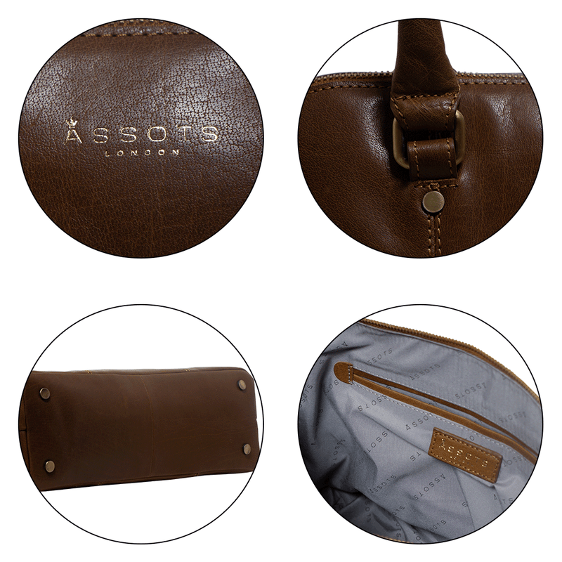 'SYDNEY' Tan Vintage Leather Laptop Bag