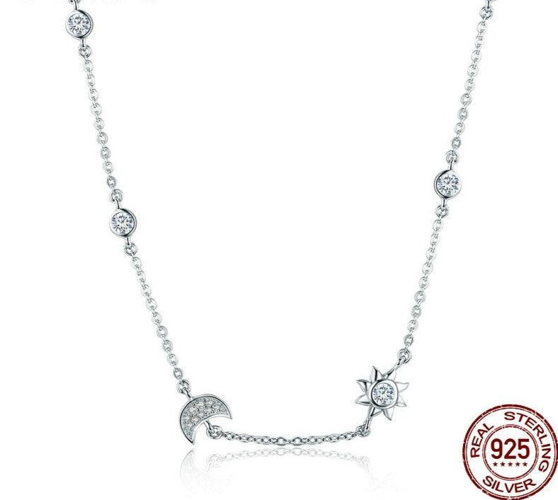 Moon and Star Necklaces