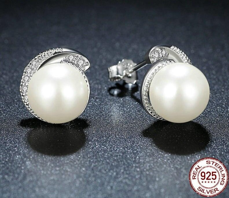 Pearl Push-back Earrings