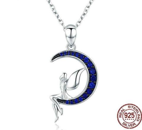 Pendant Necklace for Women | Fairy Necklace | Fairy Moon Necklaces | Blue Moon Necklaces|