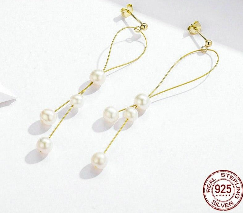 Elegant Pearl Drop Earrings