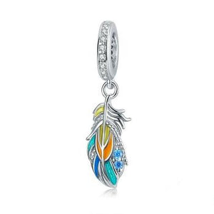Colorful Feather Charm