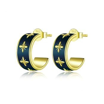 Elegant Earring | Earring for Women | Classic Earrings | Orchids gold Earrings | Plated gold Earrings|