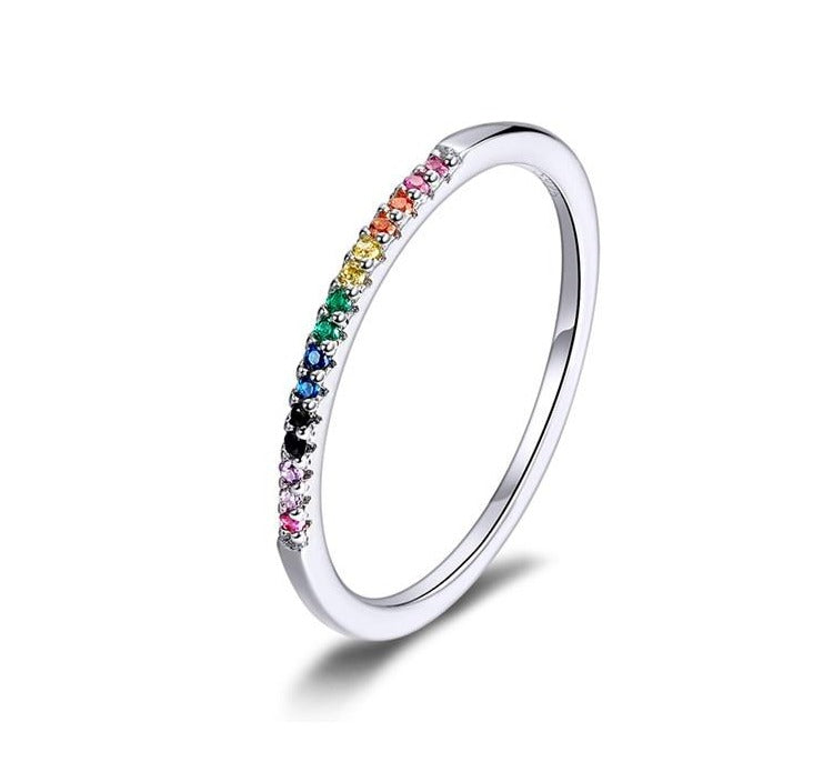 Rainbow Color Rings | Hinged Segment Ring | Hinged Piercing Jewelry