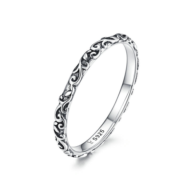 Engraved Pattern Ring
