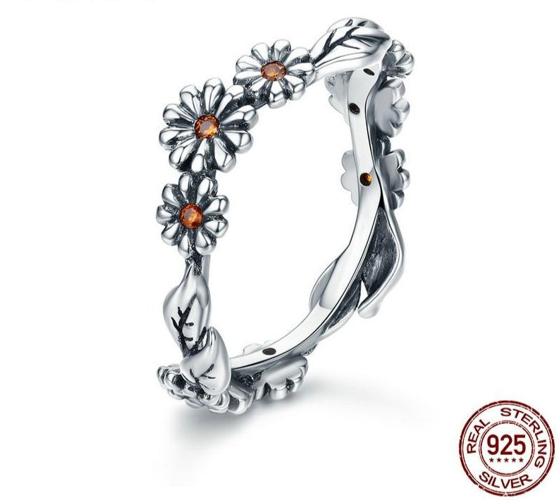 Twisted Daisy Flower Rings | Jewelry for Women | Sterling Silver Rings