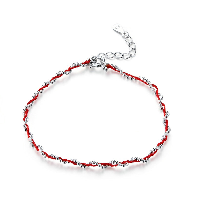 Black and Red Rope Bracelet