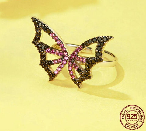 Butterfly Elf Zircon Rings