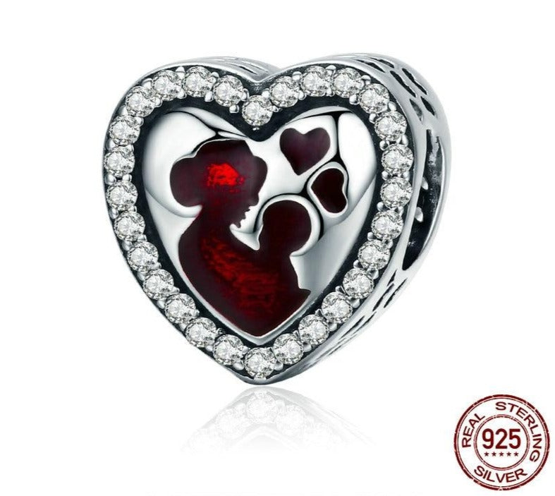 Great Mother's Love Heart Charm|Heart Charm for Bracelets