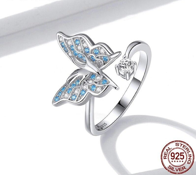 Fantastic Butterfly Blue Ring | Jewelry for Women | Wedding Jewelry