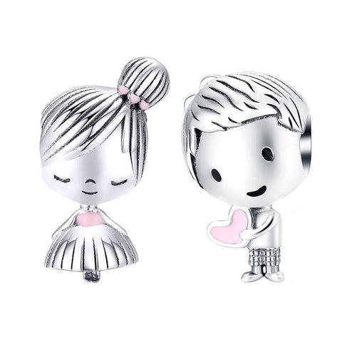 Boy and Girl Charm | Sterling Silver Charms | Charm for Bracelets
