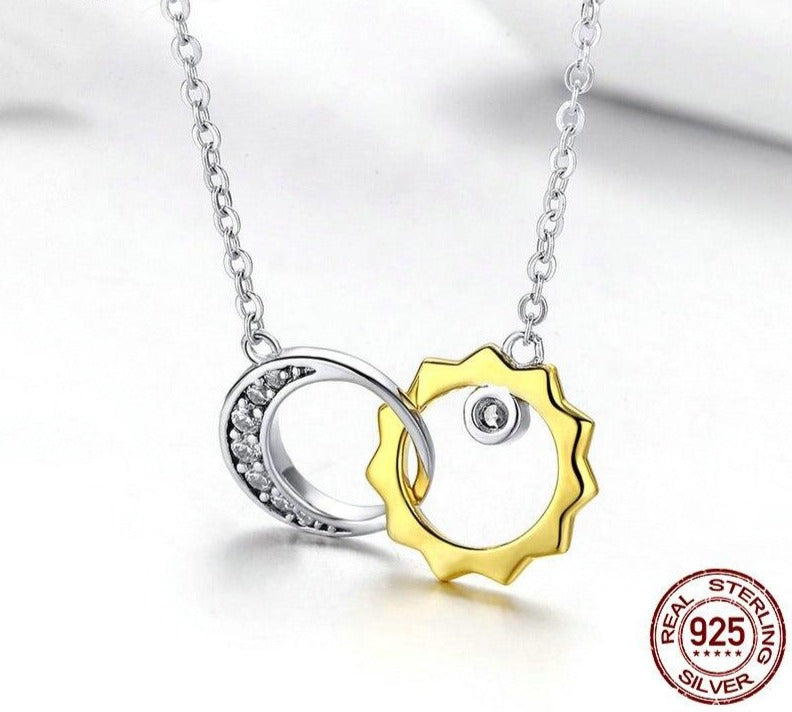 Sun & Moon Love Story Necklaces