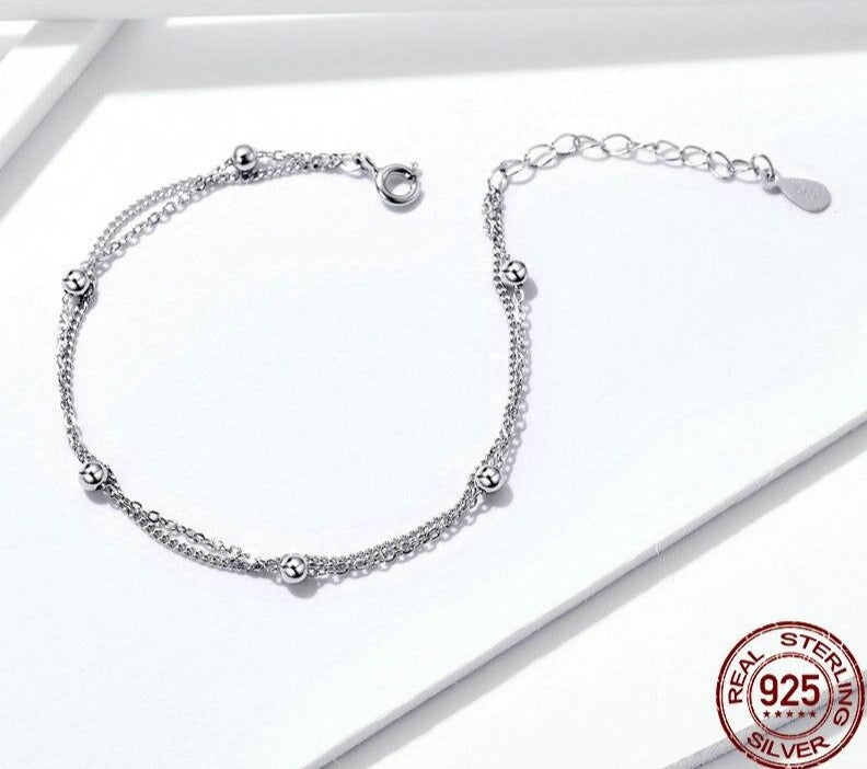 Double Layers Link Chain Bracelets | Stylish Fashionable Bracelet