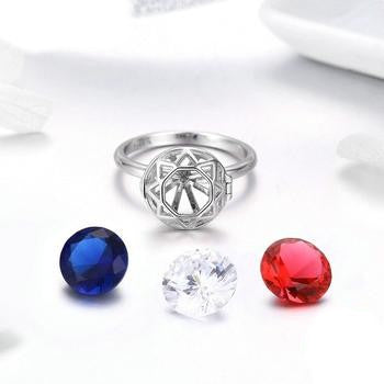 3 Colors Zircon Rings