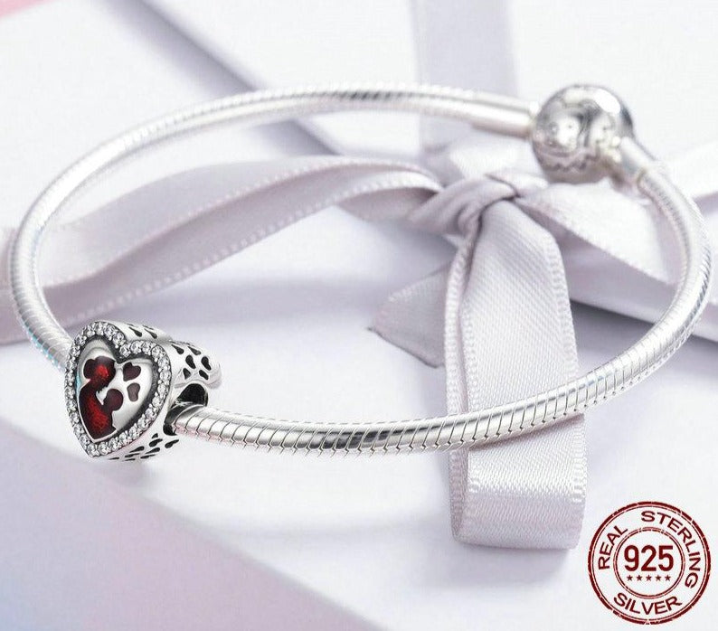 Great Mother's Love Heart Charm