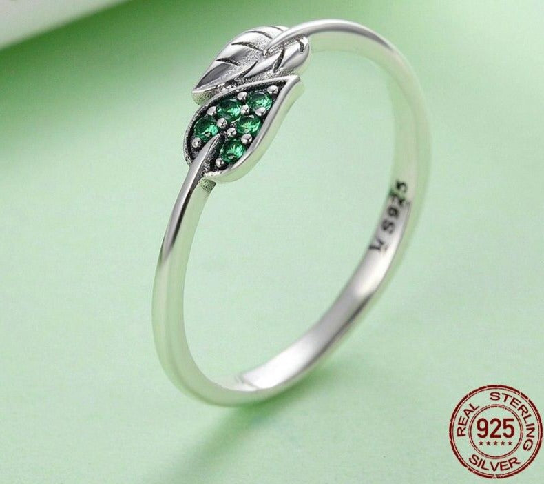Green Leaf Rings