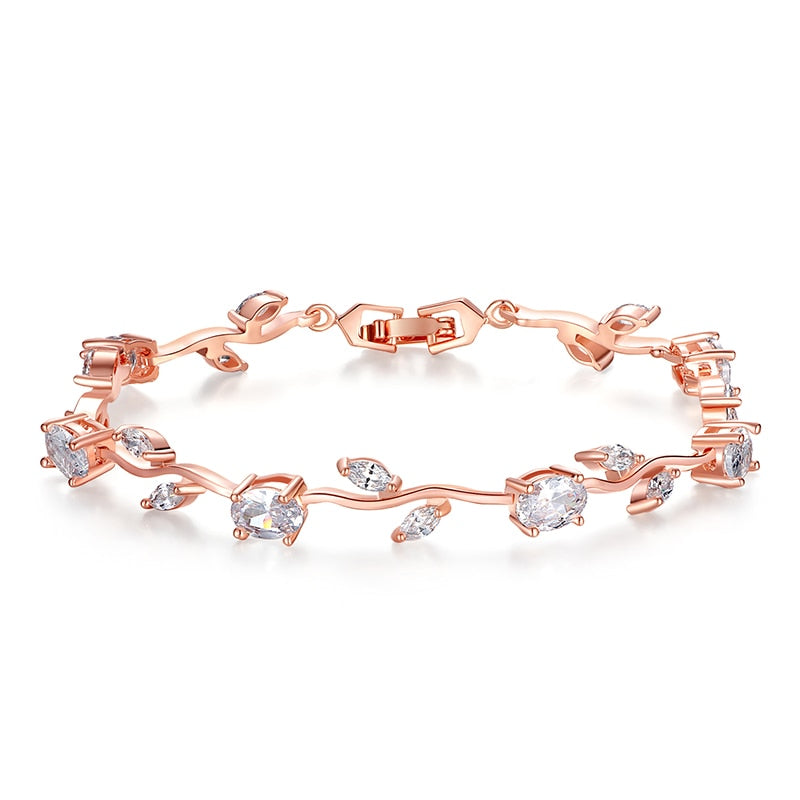 Chain & Link Bracelet with  Zircon | Unique Style Women Bracelet