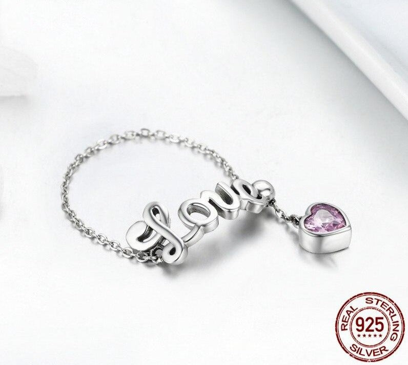 Love Letter Adjustable Finger Ring