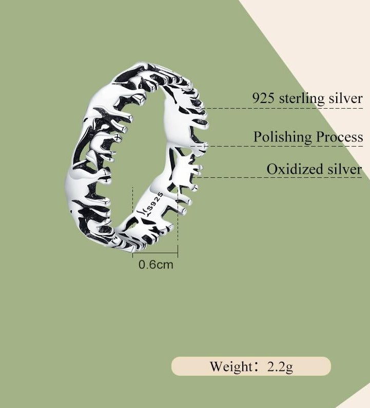Elephant Family Ring | Ring for Women | Retro Style Round Ring
