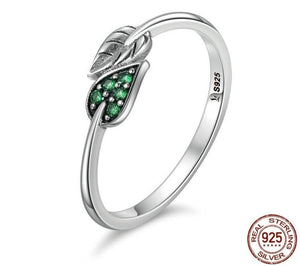 Green Leaf Rings | Engagement Ring | Women Wedding Band