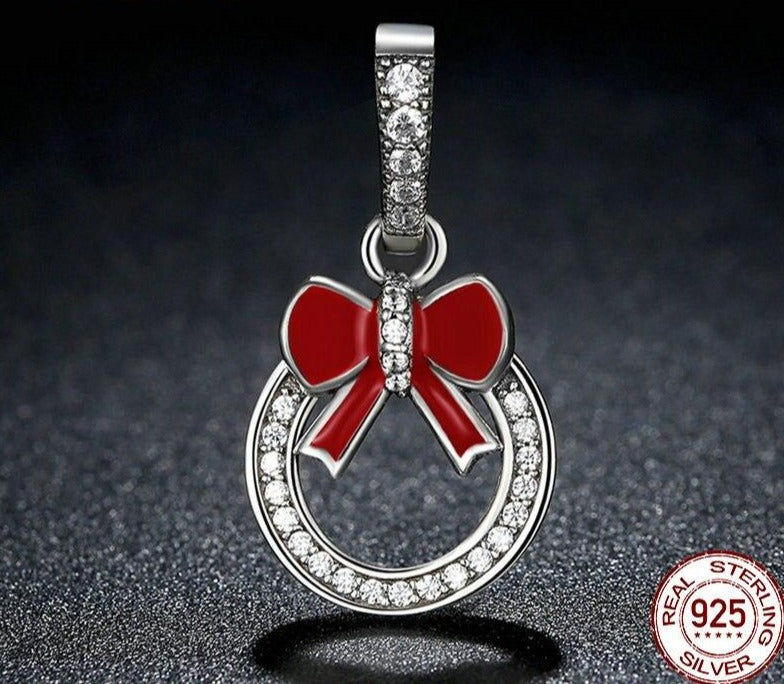 Red Bow Knot Charms