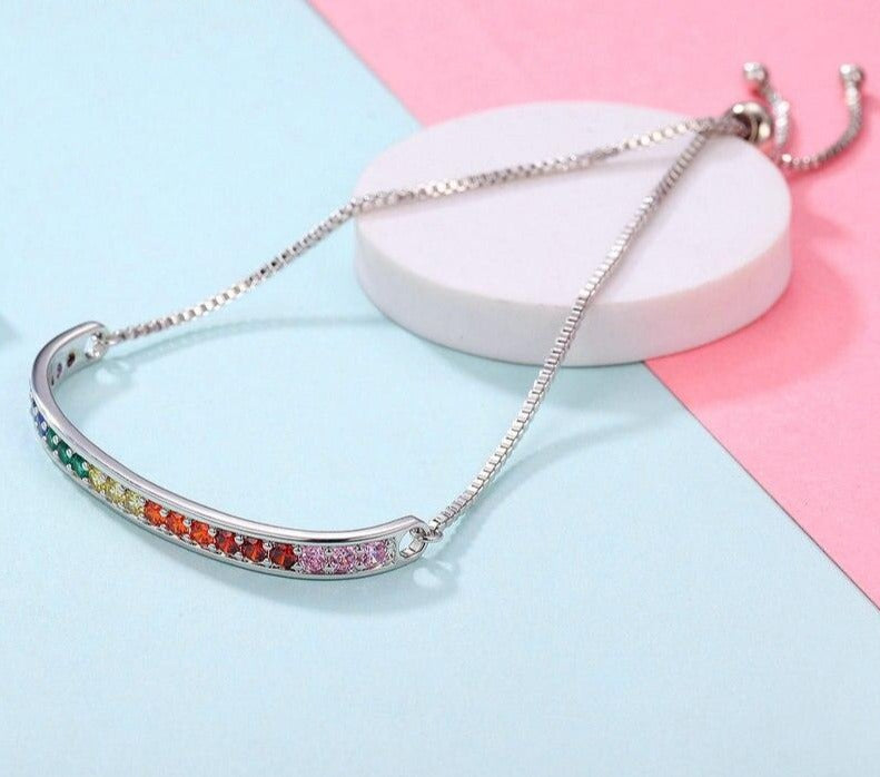 Rainbow Crystal Bracelet | Unique Fashionable Ladies Bracelet