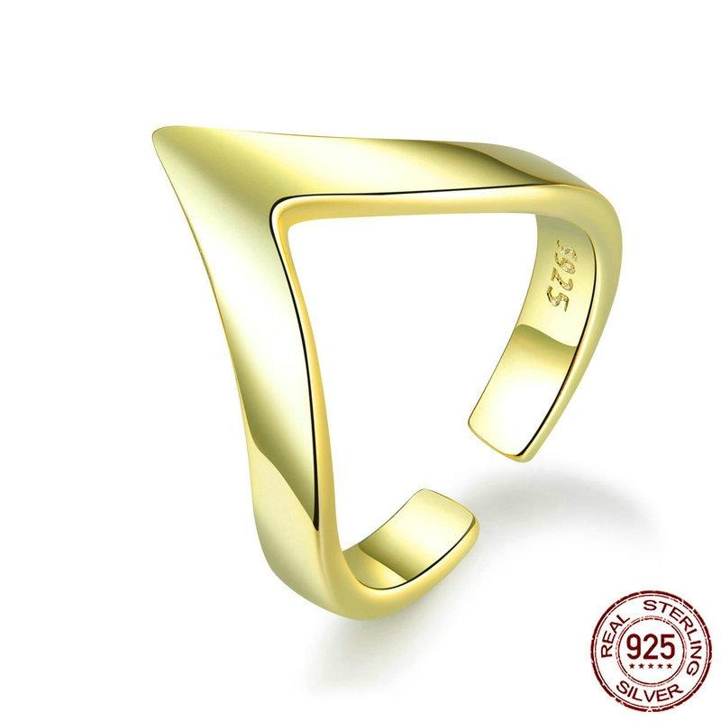 Wave Geometric Love Finger Rings