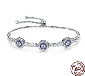 Luxury Round Blue Bracelet