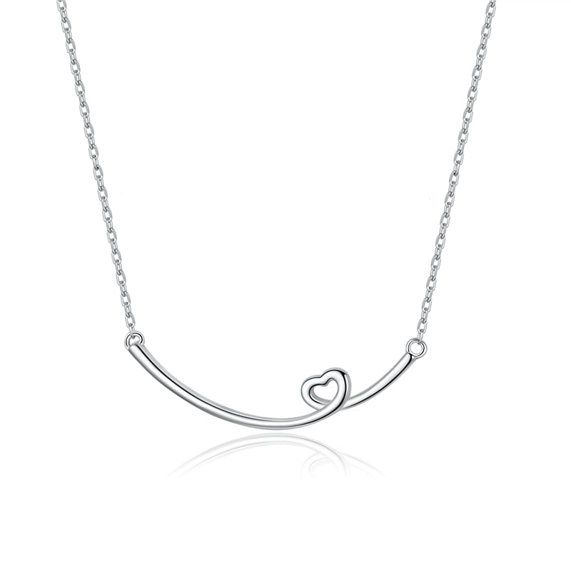 Simple Smile Necklace Minimalist Heart