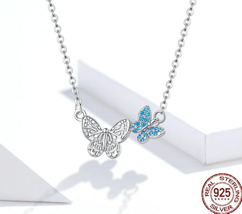 Flying Butterfly Short Necklace