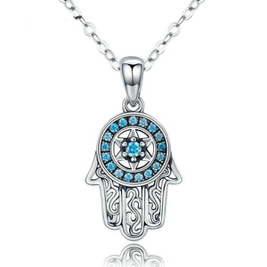 Guarding Hand Necklace | Women 925 Sterling Silver Necklaces