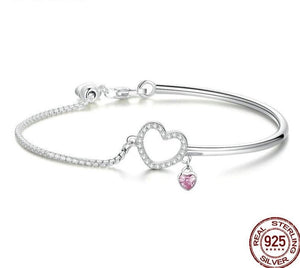 Romantic Heart Pink Bracelets