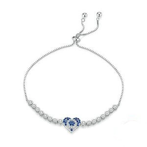Heart Blue Eye Bracelet