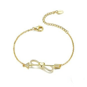 Love on String Heart Chain Bracelets | Infinity Ladies Chain Bracelets