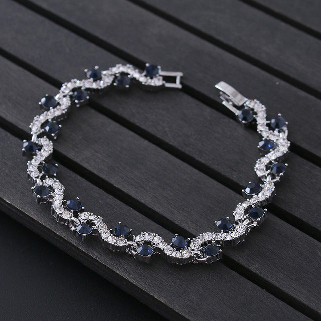 Luxury Blue Crystal Bracelet