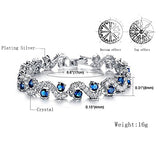 Luxury Blue Crystal Bracelet | Stylish Silver Bracelet