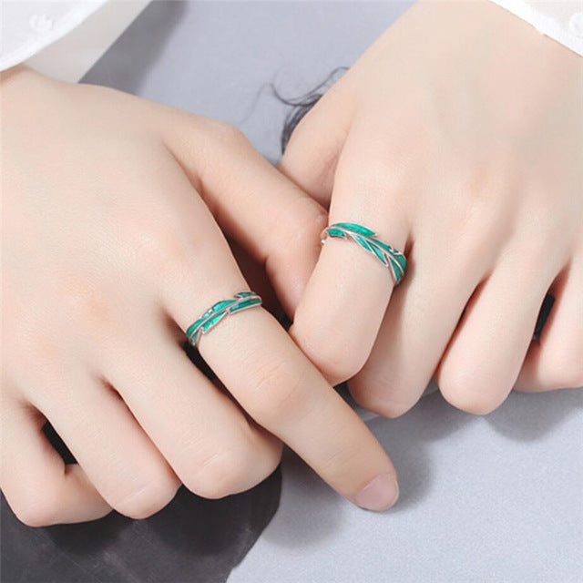 green Leaves Rings