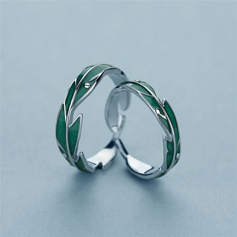 Green Leaves Rings | Rings for Women | Sterling Silver Rings