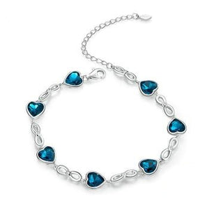 blue heart Chain Bracelet