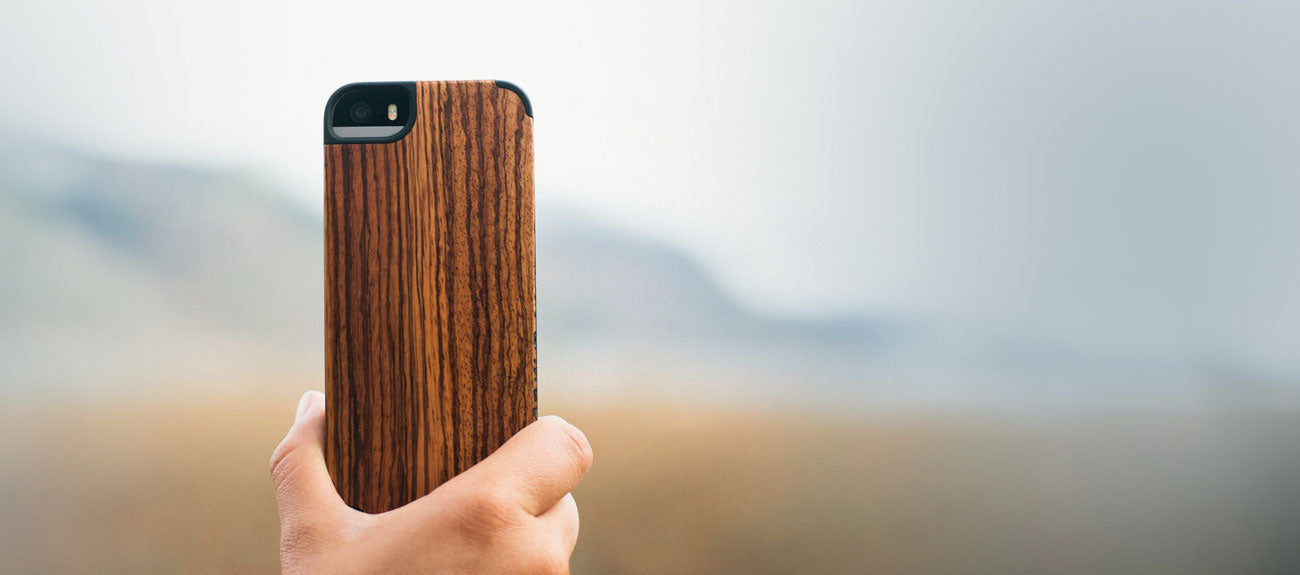 Recover wood iPhone case - stylish protection made from real wood