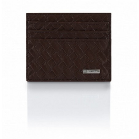 Portafoglio Cross Leather Edition Marrone Scuro