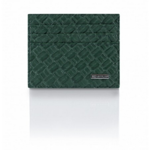 Portafoglio Cross Leather Edition Verde